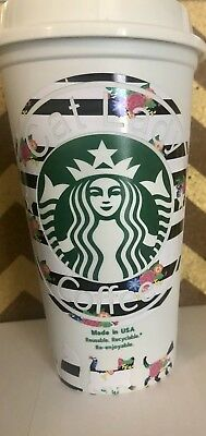 CUSTOM STARBUCKS REUSABLE TO GO COFFEE CUP MONOGRAM Says Cat Lady w/ cats on cup