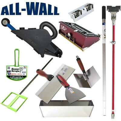 Remodeler's DIY Drywall Taping / Finishing Set with Banjo, Flat Box, Pan, Knives