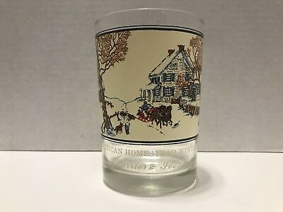 Arby's - American Homestead Winter - Currier & Ives - Collectible Glass