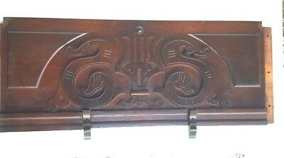 Vintage Header Pediment Entryway Mantle Mantel Architectural Accent