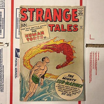 Strange Tales #107 (Apr 1963, Marvel) Namor vs the Human Torch!