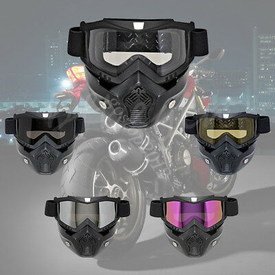 Motorcycle Riding Off-Road Anti-UV Goggles Eyewear Scooter Helmet Face Mask CE