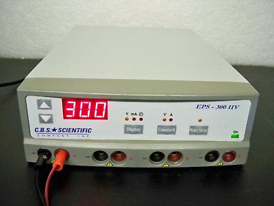 CBS Scientific EPS-300IIV 300V Power Supply electrophoresis/tube amplifier testg