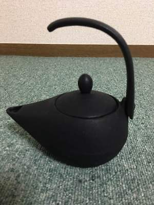 Japanese Antique KANJI old Iron Tea Kettle Tetsubin teapot Chagama 2121