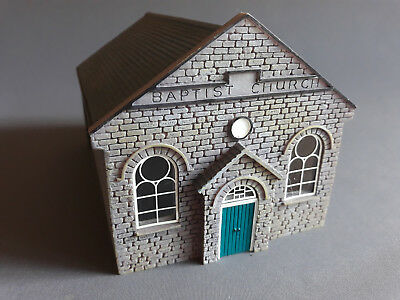 Hornby Skaledale Baptist Church R9653 Resin Good Condition Unboxed Oo Scale(Fn)