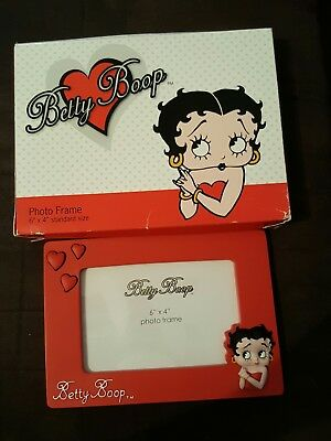 Betty Boop 6'x4' photo frame in box - red - free shipping
