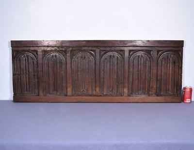 French Antique Late Gothic Period (1500's) Panel in Walnut Wood