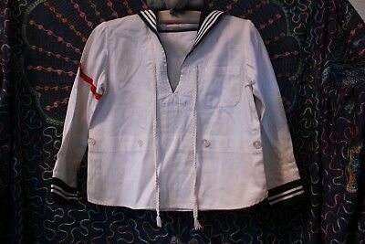 Antique Child's Sailor Top Shirt Red White and Blue De Pinna New York