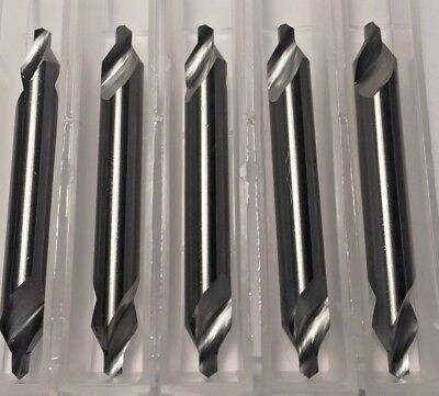 "Carbide Center Drill #4 (1/8"" pilot) 60 degree 5-Pack Made In the USA"