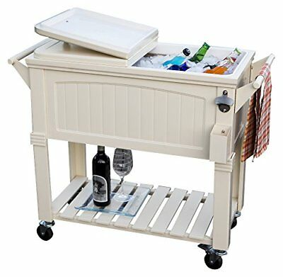 Permasteel Patio Cooler with Insulated Basin, 80-Quart