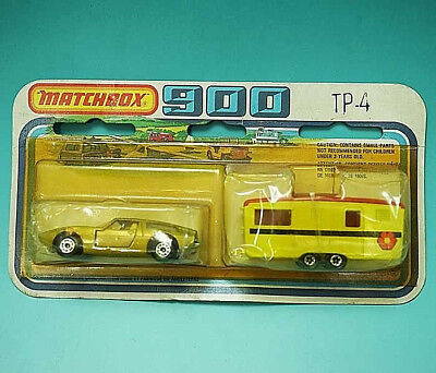1978 Matchbox Two Pack TP-4 Maserati Bora in GOLD & Caravan Mint in Package 900