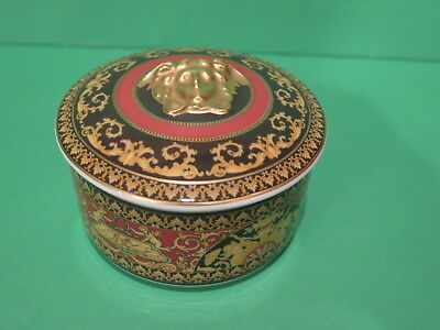 Rosenthal Versace Medusa Trinket Box Black, Gold, Red