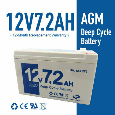12V 7.2AH 7ah UPS SLA AGM Sealed Lead Acid Battery Rechargeable 4 NBN Toys UPS