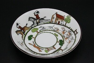 "Crown Staffordshire England Hunting Scene 5"" Fruit Dessert Sauce Bowl"