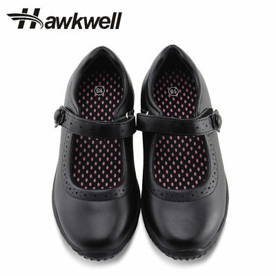 Hawkwell Girl's Black School Uniform shoes Dress Oxford Toddler Mary Jane Flat