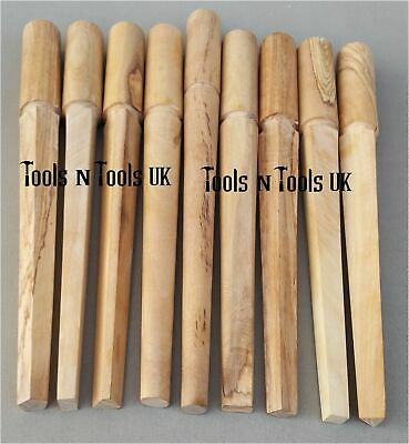 9 Design Shapes Hard Wood Ring Mandrels Jewelry Wires Jump Rings Wooden Tools
