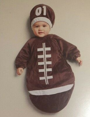 NWT  baby football season ball costume bunting outfit  sz 0-6 months boys girls