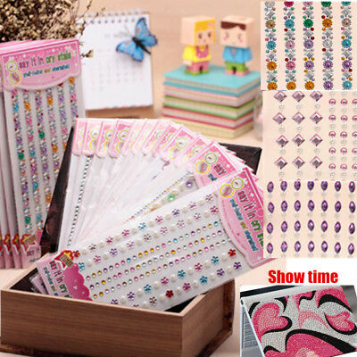 Bling Diamante Jewel Sticker Decor Self Adhesive Glitter Crystal Gems Decoration
