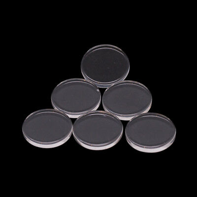 20mm Circular Clear Round Flat Glass Disc Cabochons