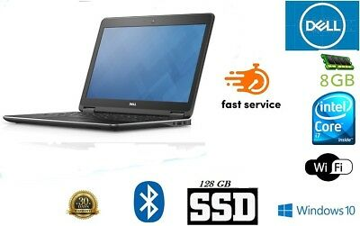 Dell Latitude E7240 Laptop Core i7 4th Generation 8GB 128GB SSD Windows 10 Pro