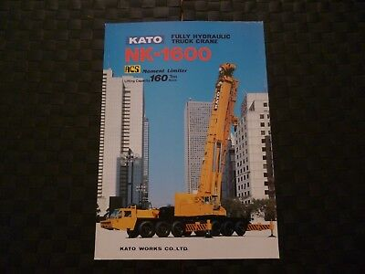 Kato Nk-1600 Fully Hydraulic Truck Crane Specification Leaflet *as Pictures*