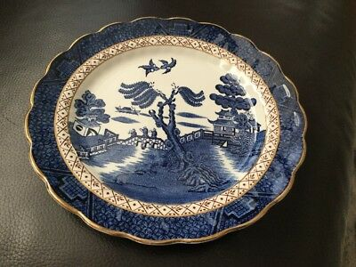 """Booths Real Old Willow A8025 Salad Fish Plate 21cm 8 1/4"""""""