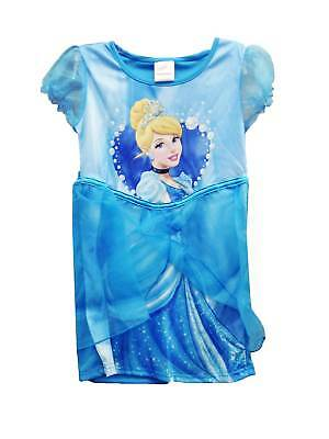 Girls Party Tutu Slip On Dress Disney Princess Cinderella in Blue