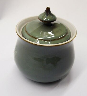 Denby  Regency Green  Small  Covered  Sugar  Bowl
