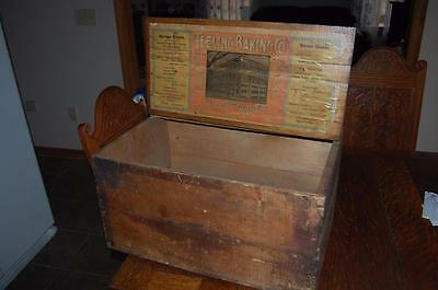 RARE Biscuit Wood Advertising Shipping Crate Teeling Baking Co. Pittsfield Mass.