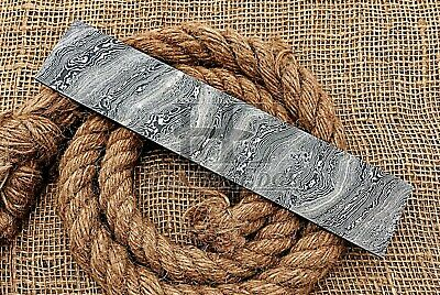 "HUNTEX Forged Damascus 10"" x 2"" Twist Pattern Blank Blade Billet Knife Making"
