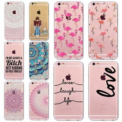 Animals,Floral TPU Case For Iphone 7 8 6 6s