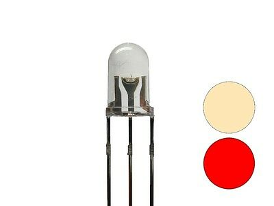 S680 20 Piece Duo leds 5mm Bi-Color Warm White Red 3-Pin