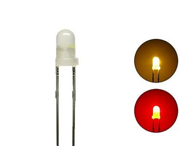 S1052 -20 pieces Duo LEDs 3mm Bi-Color Diffusion Yellow Red