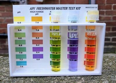 API TEST KIT RACK aquarium freshwater saltwater ph ammonia GH KH Nitrate Nitrite