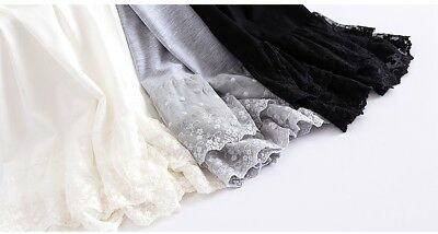 Vintage Lace Trim Long Full Length Camisole Slip Top/ Cami Dress Extender