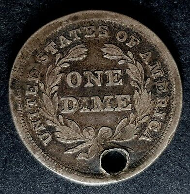 1838 United States of America Silver One Dime