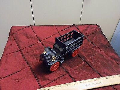 Vintage Cast Iron Blue and Red, Toy Farm Truck