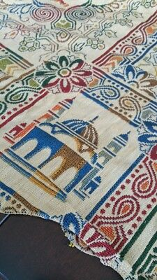 Vintage tablecloth - Tapestry or heavy woven - Marocco made in italy
