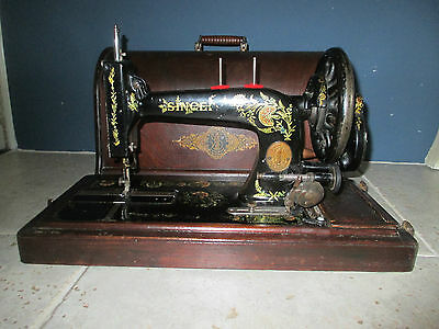 Rare 1906 model Singer 48k Ottoman Hand Cranck sewing machine + Accessories