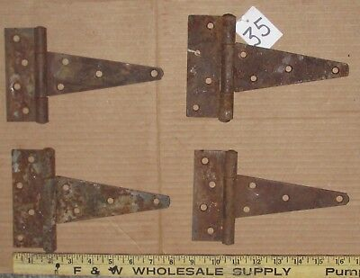 4 Vintage Hinges Barn Door Gate Rustic Primitive Strap Hinge 8 Inch Lot 35