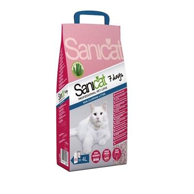 4 confezioni sanicat  Aloe Vera 7 Days Cat Litter regalate!!!!!!!!!!!!!!!!!!!!!!