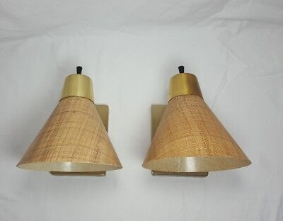 Vintage Mid Century Modern Wall Light Sconce Lamps