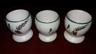 Denby Greenwheat (3 egg cups)-excellent condition