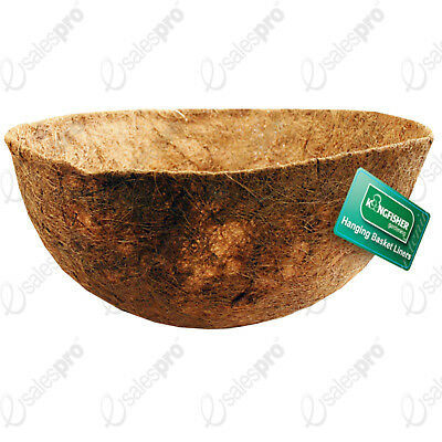 """Choice of 12"""" 14"""" or 16"""" moulded coconut fibre hanging basket liners"""