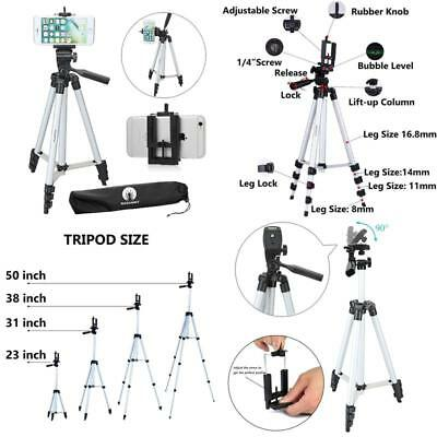 "Tripod Stand Camera Phone 50"" Tall Light Weight Aluminum W/Travel Case Bag"