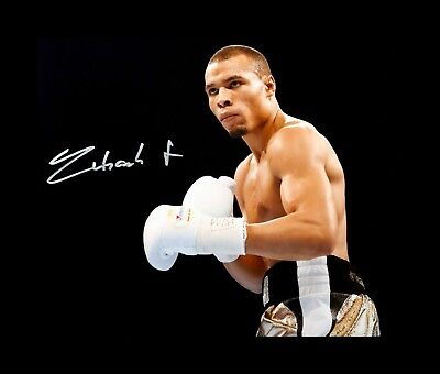 Chris Eubank Jr. Box handsigniert Foto Authentisch Original + COA - 16x12