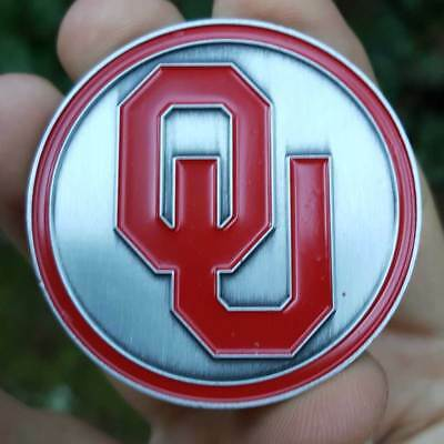 PREMIUM NCAA Oklahoma Sooners Poker Card Protector Collector Coin Golf Marker