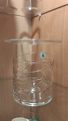 Vintage PartyLite Glass Molten Copper Wire Candle Holder Lamp Made In Romania