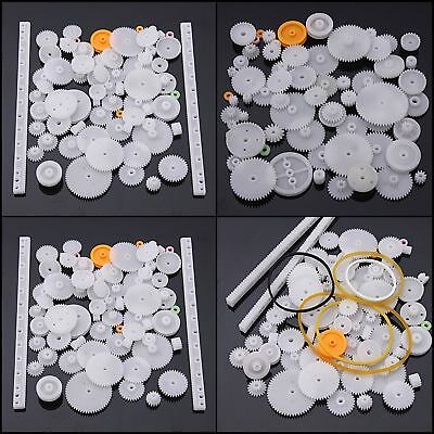 Plastic Crown Gear Single Double Reduction 75 Assorted Worm Small Parts Wheel Up