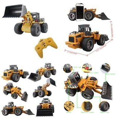 Remote Control Front Loader Tractor Rc Bulldozer Truck 6Ch Toy Car Alloy Vehicle